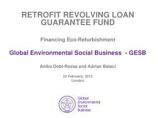 RETROFIT R EVOLVING  LOAN  GUARANTEE FUND Financing Eco-Refurbishment