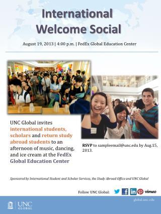August  19 , 2013     4:00  p.m.   FedEx Global Education Center