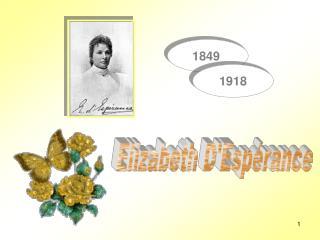 Elizabeth D'Espérance