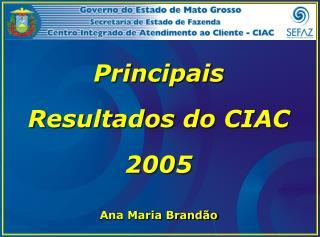 Principais Resultados do CIAC 2005