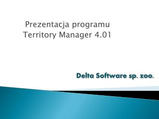 Prezentacja programu Territory Manager 4.01