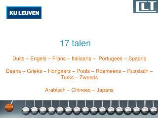 17 talen