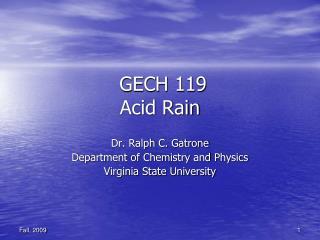 GECH 119 Acid Rain