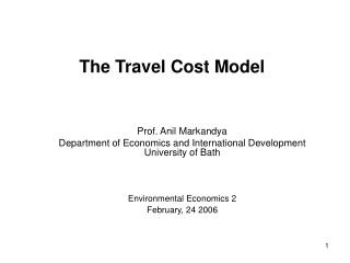 The Travel Cost Model