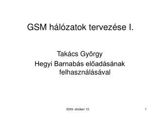 GSM hálózatok tervezése I.