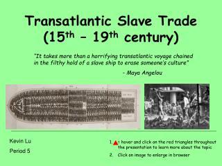 Transatlantic Slave Trade (15 th  – 19 th  century)