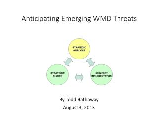 Anticipating Emerging  WMD Threats