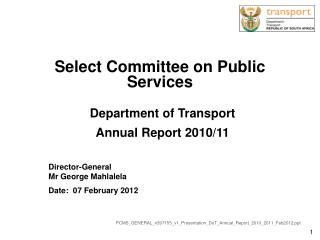 Select Committee on Public Services