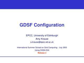 GDSF Configuration