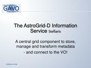 The AstroGrid-D Information Service  Stellaris