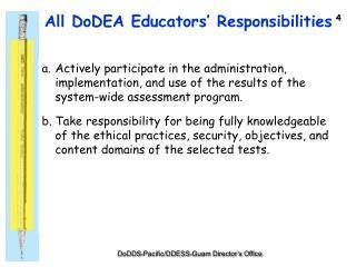 All DoDEA Educators' Responsibilities