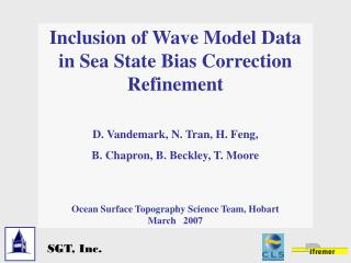 Inclusion of Wave Model Data in Sea State Bias Correction Refinement