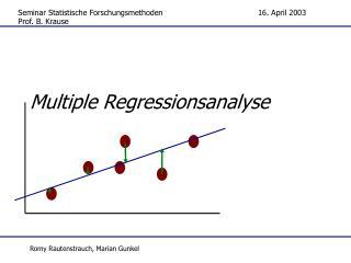 Multiple Regressionsanalyse