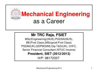 Mechanical Engineering  as a Career