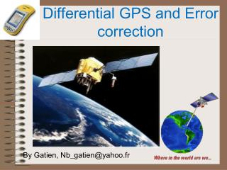 Differential GPS and Error correction