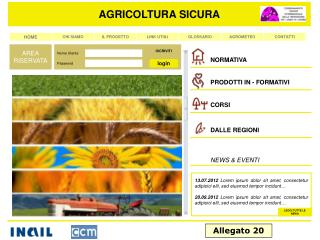 AGRICOLTURA SICURA