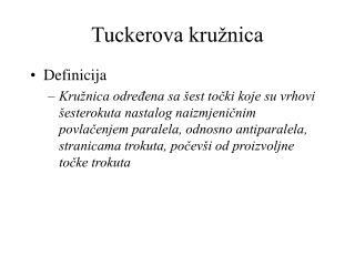 Tuckerova kružnica