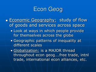 Econ Geog