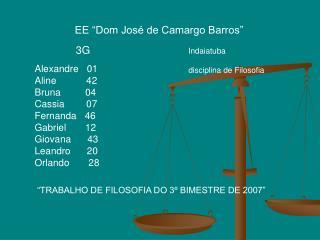 3G Alexandre   01    Aline           42 Bruna         04  Cassia        07 Fernanda   46