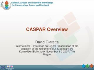 CASPAR Overview