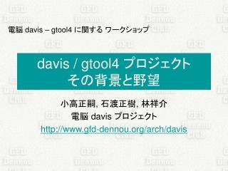 davis / gtool4  プロジェクト その背景と野望
