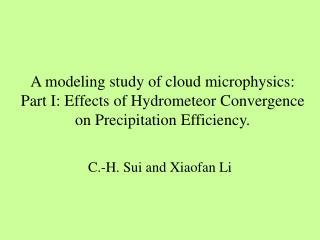 C.-H. Sui and Xiaofan Li