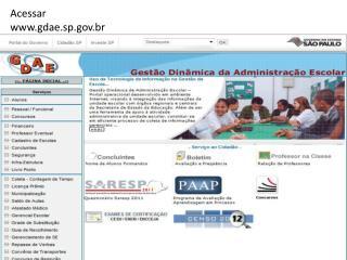 Acessar   gdae.sp.br