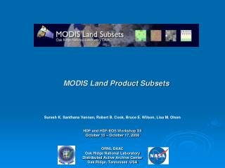 MODIS Land Product Subsets