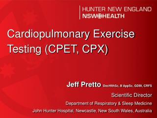 Jeff Pretto  DocHlthSc, B AppSc, GDBI, CRFS Scientific Director
