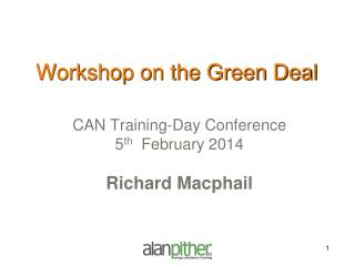 Workshop on the Green Deal