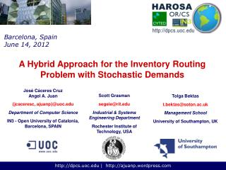 A Hybrid Approach for the Inventory Routing Problem with Stochastic Demands