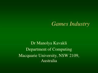 Ga mes Industry