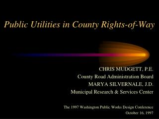 Public Utilities in County Rights-of-Way
