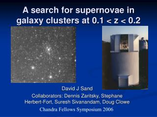 A search for supernovae in galaxy clusters at 0.1 < z < 0.2