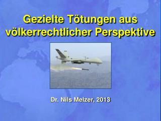 Dr. Nils  Melzer , 2013