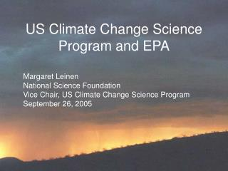 US Climate Change Science Program and EPA