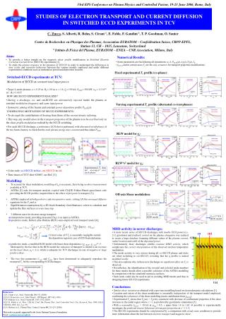 STUDIES OF ELECTRON TRANSPORT AND CURRENT DIFFUSION  IN SWITCHED ECCD EXPERIMENTS IN TCV