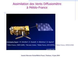 Assimilation des Vents Diffusiom�tre � M�t�o-France