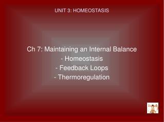 UNIT 3: HOMEOSTASIS