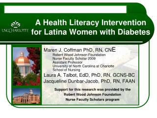 A Health Literacy Intervention for Latina Women with Diabetes