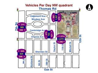 Vehicles Per Day NW quadrant