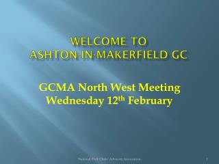 Welcome to ASHTON-IN-MAKERFIELD GC