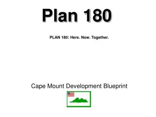 Cape Mount Development Blueprint