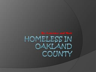 Homeless in Oakland County