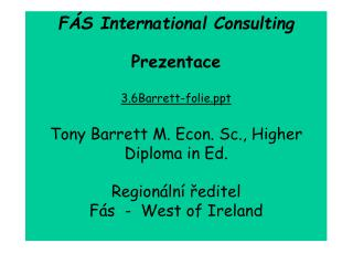 F�S International Consulting Prezentace 3.6Barrett-folie