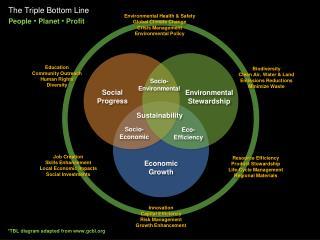 The Triple Bottom Line People  •  Planet •  Profit