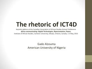The rhetoric of ICT4D