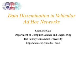 Data Dissemination in Vehicular Ad Hoc Networks