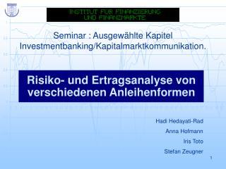 Seminar : Ausgewählte Kapitel Investmentbanking/Kapitalmarktkommunikation.