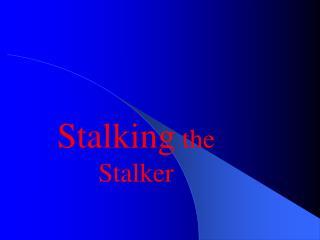 Stalking  the Stalker